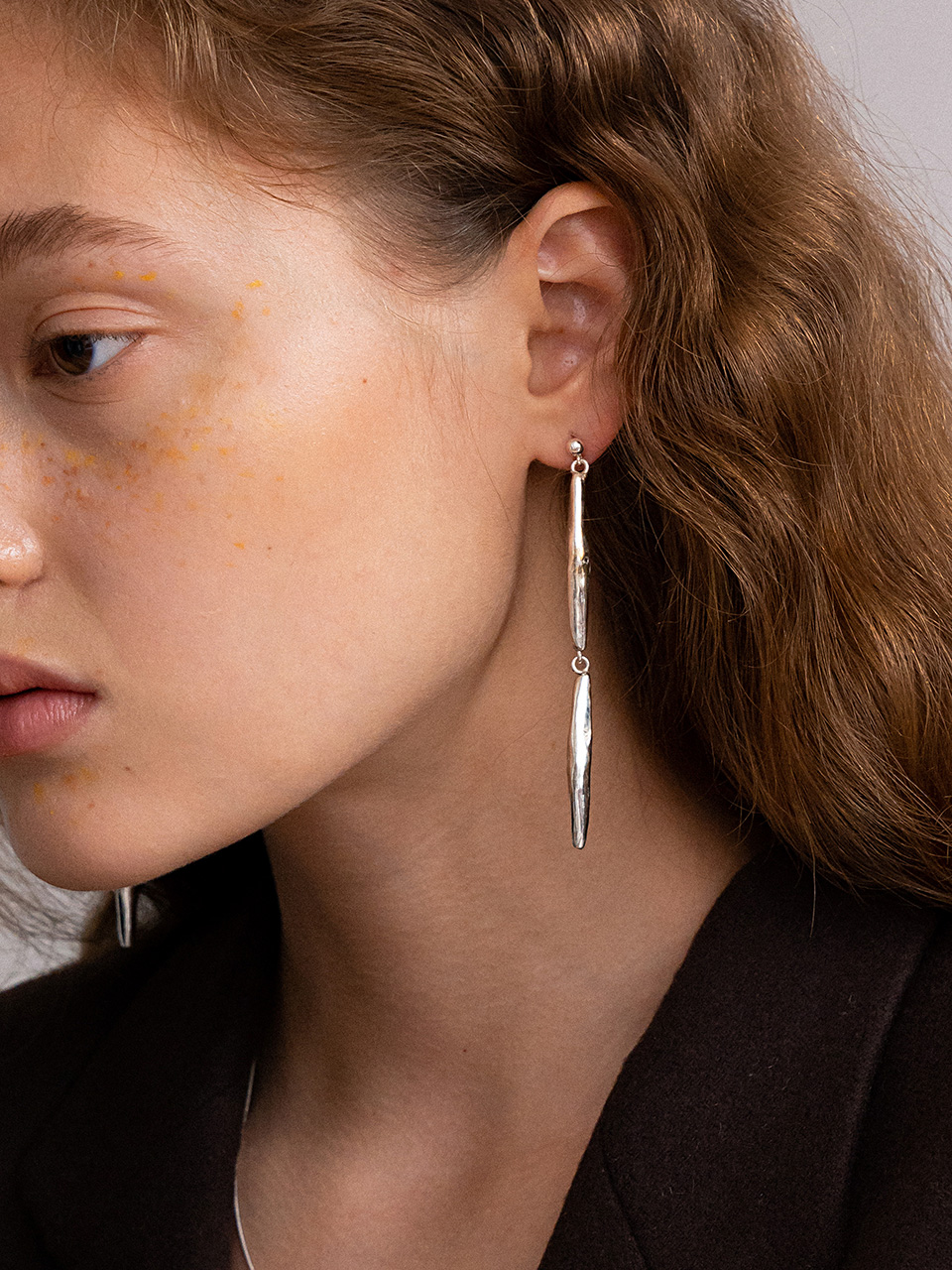 18FW Dry two seeds earring