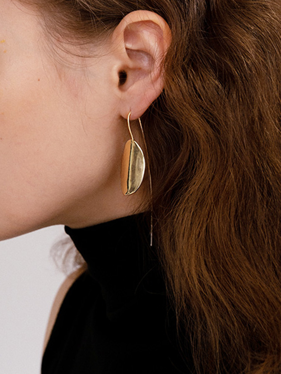 18FW Oval seeds drop earring