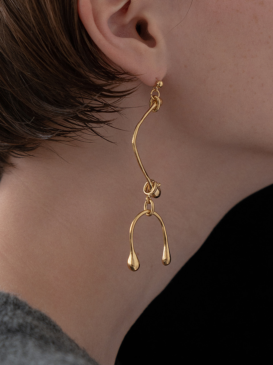 Two way bulb earring