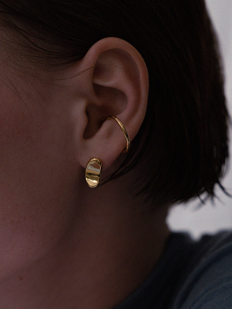 Curve seed earring