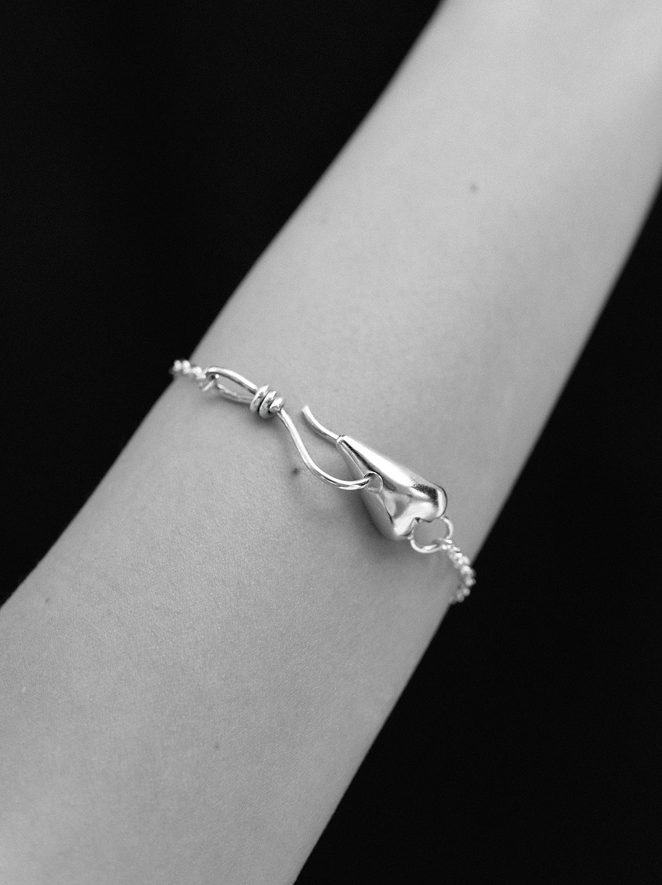 Rope love chain bracelet
