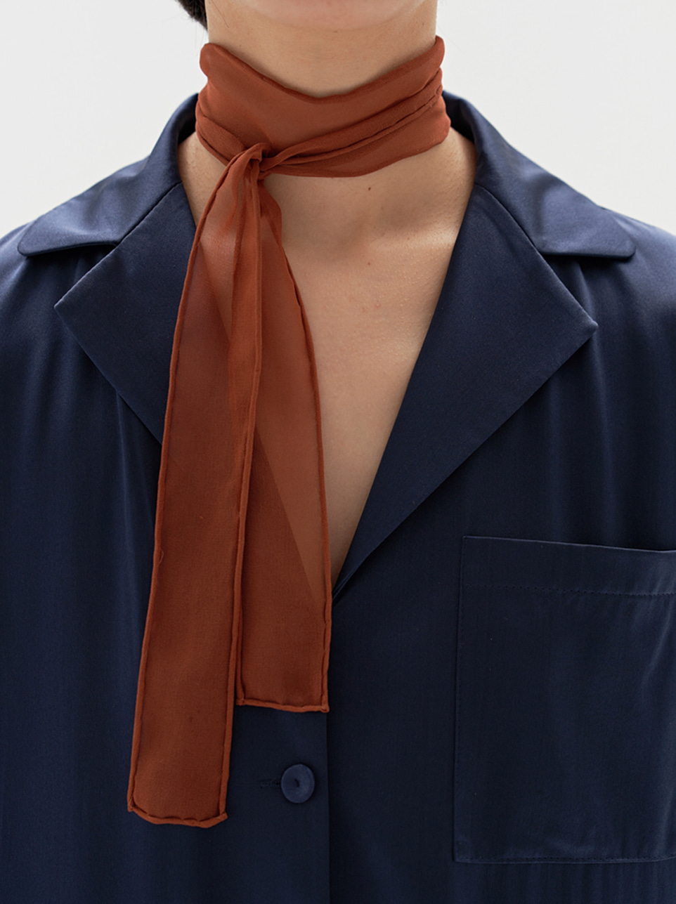 Silk Chiffon Scarf (petit) 6colors