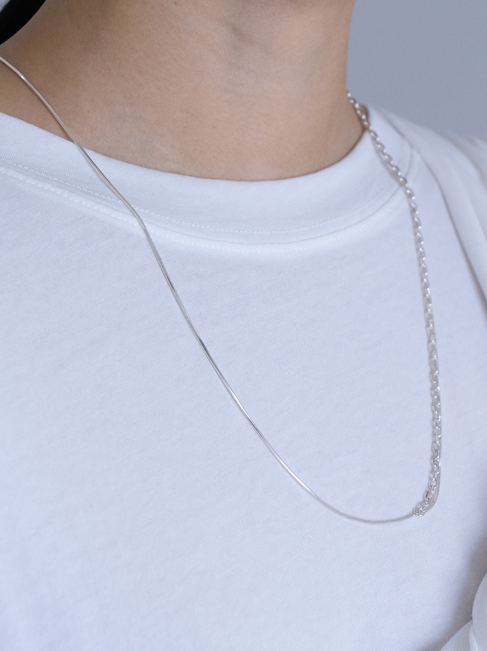 Point simple 2way necklace